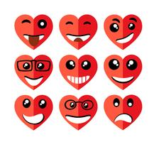 Set av valentines hjärtan