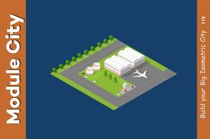 Isometrischer Flughafen der Stadt 3D