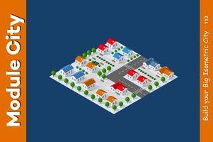 Isometrisk syn på en gård vektor