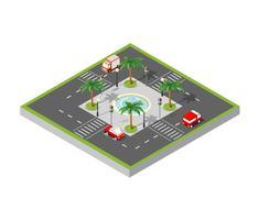 City isometrisk 3D korsning