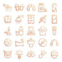 Schlafende Symbole packen vektor