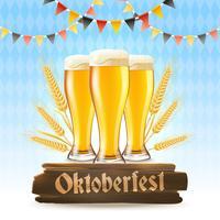 Oktoberfest Poster Realistiskt vektor