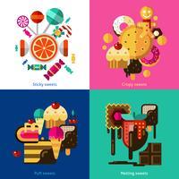 Süßigkeiten und Süßigkeiten Icons Set