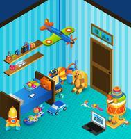 Spielzimmer Konzept isometrisch