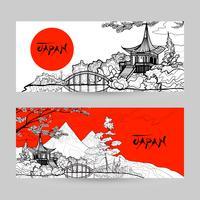 japan Banner gesetzt vektor