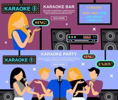 karaoke banner set vektor