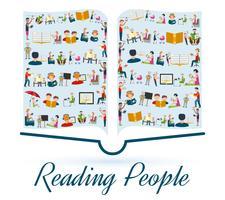 Läser Folk Koncept vektor