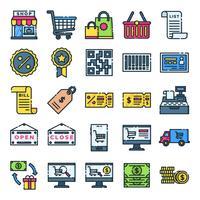 Einzelhandel Icons Pack vektor