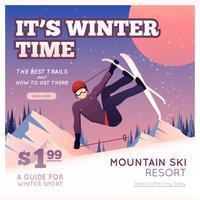 Wintersport-Plakat vektor