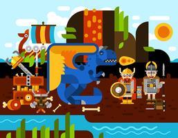 Viking Hintergrund Illustration vektor