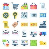 Einzelhandel Icons Pack