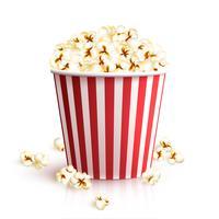 Realistisk Popcornhink vektor