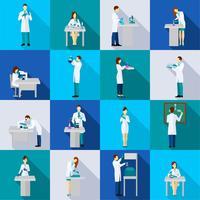 Wissenschaftler Person Flat Set