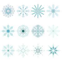 Schneeflocken-Weihnachtsset vektor
