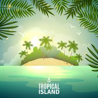 Tropisches Inselnaturplakat