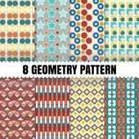 8 Geometri mönster bakgrund