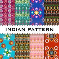 Abstrakter indischer Musterhintergrund vektor