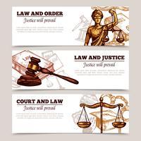 Horizontale Gesetzesfahnen
