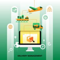 Lieferung Management Illustration vektor