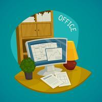 Büro-Design-Konzept festgelegt vektor