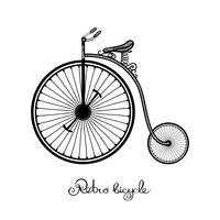 Retro Style Fahrrad vektor