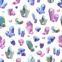 Kristall Mineralien nahtlose Muster vektor