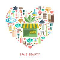 Spa- und Beauty-Konzept vektor