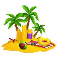 Strandruhe-Hintergrund