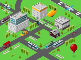 isometrisk stadsgata