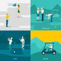 Golf flach eingestellt