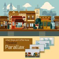 Butiker Tileable Parallax vektor