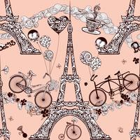 Paris sömlösa mönster