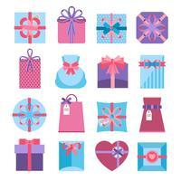 Geschenk und Geschenkbox vektor
