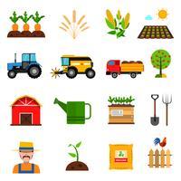 Landwirtschaft Icons Set vektor