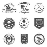 Hockey Etiketter Set vektor