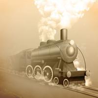 Old Style Lokomotive vektor
