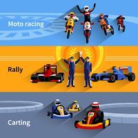 Racer Banner eingestellt vektor