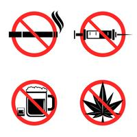 Keine Drogen Icons Set