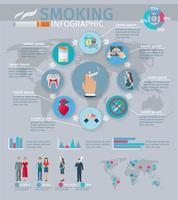 Rökning Infographics Set vektor
