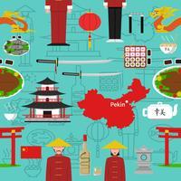 Chinesisches nahtloses Muster vektor