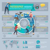 Fotograf Infografiken eingestellt vektor