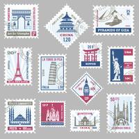 Briefmarken Set vektor