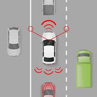 Bilsäkerhetssystem vektor