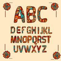 Zentangle-Alphabet farbig vektor
