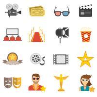 Film-Icons flach vektor