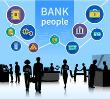Financial World Bank People koncept banner