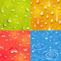 vattendroppe kvadrat banner set vektor