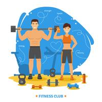 Fitness Paar Konzept vektor