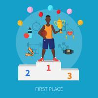 Sport Gewinner Konzept