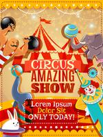 Zirkusperformance Vintage Poster